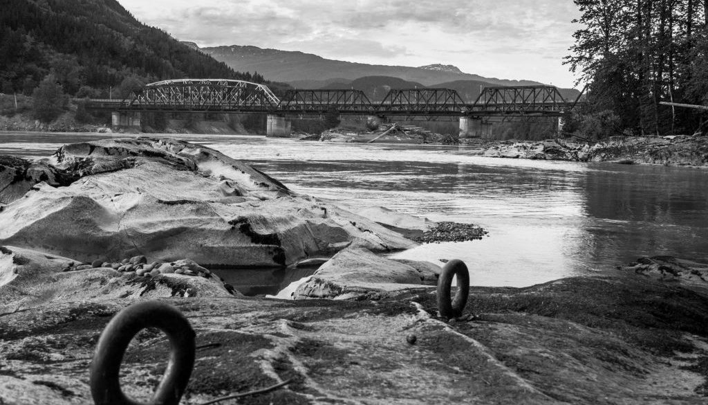 Old Skeena Bridge Black and White