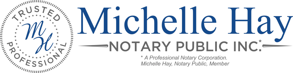 Michelle Hay Notary Public Inc. Logo