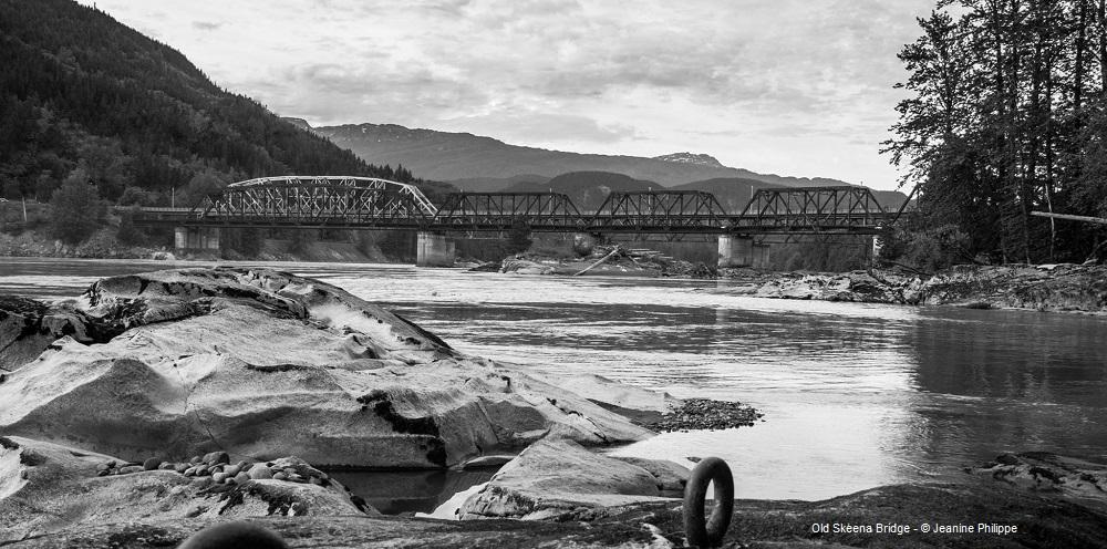 Old Skeena Bridge by Jeanine Philippe