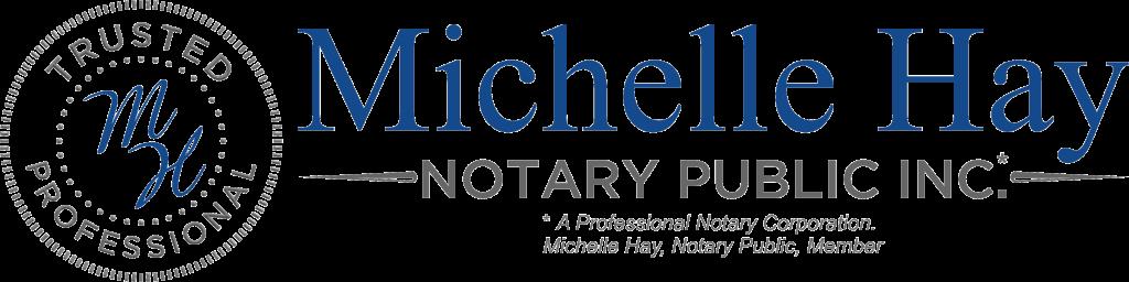 Michelle Hay Notary Public Inc. Logo